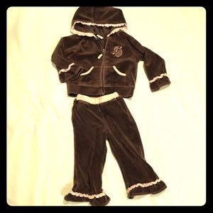 Please Mum Velour Jumpsuit • Size 18 Mo